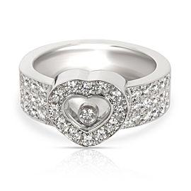 Chopard Happy Diamond Ring in 18K White Gold 1 CTW