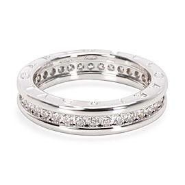 Bvlgari B. Zero1 One Band Diamond Ring in 18K White Gold
