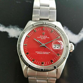 Mens Rolex Oyster Perpetual Date 1970s 1501 35mm Automatic Vintage Watch RA121