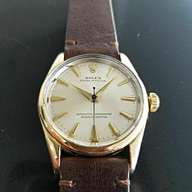 Mens Rolex Oyster Perpetual 1014 34mm Automatic Gold Capped 1960s Vintage RA142