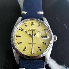 Mens Rolex Oysterdate Precision Ref.6694 34mm Hand-Wind, c.1960s Swiss RA108BLU