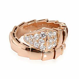 Bulgari Serpenti Diamond Viper Ring in 18k Rose Gold 0.53 CTW