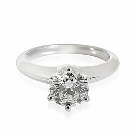 Tiffany & Co. Diamond Solitaire Engagement Ring in Platinum H VS1 1.04 CTW