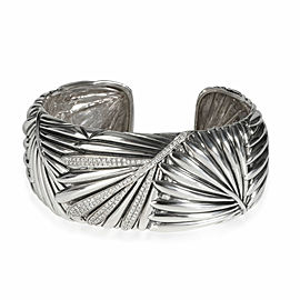 Effy Palm Frond Diamond Cuff in Sterling Silver 0.56 CTW