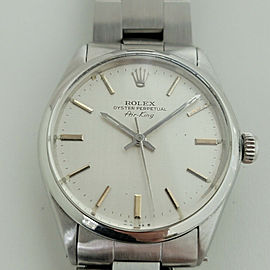 Mens Rolex Oyster Precision 5500 Air King 34mm Automatic 1970s Vintage RA253