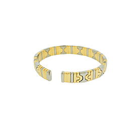 Bvlgari 18K Yellow Gold & Steel Parentesi Women'S Bracelet Bangle Size S