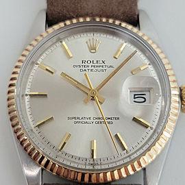 Mens Rolex Oyster Datejust 1601 36mm 18k SS Automatic 1970s Vintage Swiss RJC132