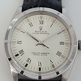 Mens Rolex Oyster Perpetual Ref 1007 34mm Automatic 1960s Vintage Swiss RA258