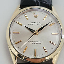 Mens Rolex Oyster Perpetual 1024 34mm Gold-Capped Automatic 1960s Vintage RJC103