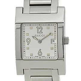 GUCCI 7700L Silver Dial SS Quartz Ladies Watch