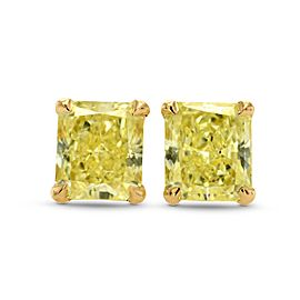 Leibish 14K Yellow Gold with 0.70ctw Diamond Stud Earrings
