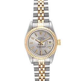 Rolex Datejust Steel Yellow Gold Anniversary Dial Ladies Watch 69173