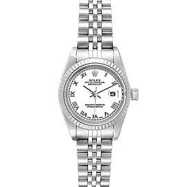 Rolex Datejust 26 Steel White Gold Roman Dial Ladies Watch 79174