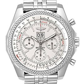 Breitling Bentley Motors Silver Dial Chronograph Watch A44362 Box Papers