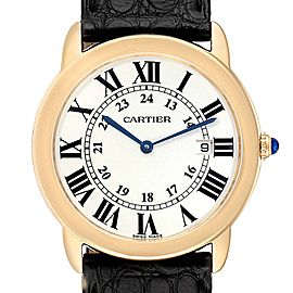 Cartier Ronde Solo 36mm Large Yellow Gold Steel Unisex Watch W6700455