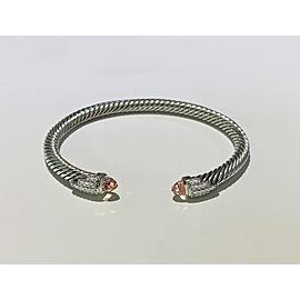 David Yurman Empire Cable Bracelet with Morganite