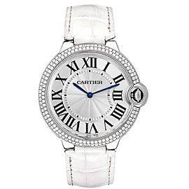 Cartier Ballon Blue White Gold Diamond Ladies Watch WE902056