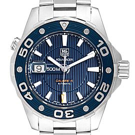 Tag Heuer Aquaracer Blue Dial Steel Mens Watch WAJ2112 Box