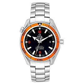 Omega Seamaster Planet Ocean Orange Bezel Watch 2209.50.00 Box Card