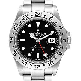 Rolex Explorer II Black Dial Automatic Steel Mens Watch 16570 Box Papers