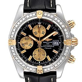 Breitling Chronomat Steel 18K Yellow Gold Diamond Mens Watch B13356