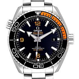 Omega Planet Ocean Black Orange Bezel Watch 215.30.44.21.01.002 Box Card