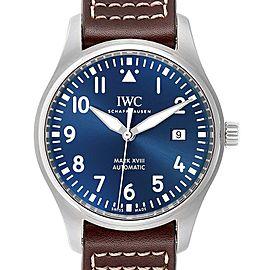 IWC Pilot Mark XVIII Petit Prince Blue Dial Mens Watch IW327004 Unworn