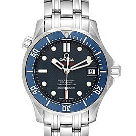 Omega Seamaster Bond 300M Blue Wave Dial Mens Watch 2222.80.00