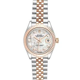 Rolex Datejust EveRose Rolesor MOP Diamond Dial Ladies Watch 279171