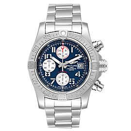 Breitling Super Avenger Blue Dial Chronograph Mens Watch A13381 Card