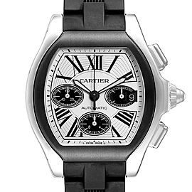 Cartier Roadster Rubber Strap Chronograph Mens Watch W6206020