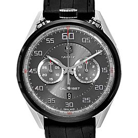 Tag Heuer Carrera Chronograph Gray Dial Mens Watch CAR2C12 Box Card