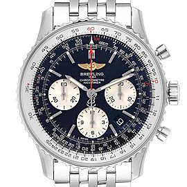 Breitling Navitimer 01 Black Dial Steel Mens Watch AB0121 Box Card