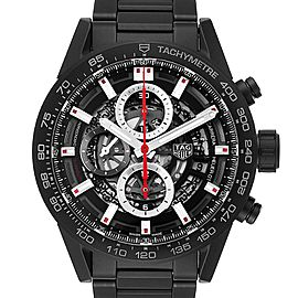 TAG Heuer Carrera Calibre 01 Skeleton Mens Watch CAR2090 Box Card