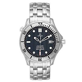 Omega Seamaster 300m Blue Wave Dial Steel Mens Watch 2532.80.00