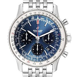 Breitling Navitimer 01 Blue Dial Chronograph Steel Mens Watch AB0121