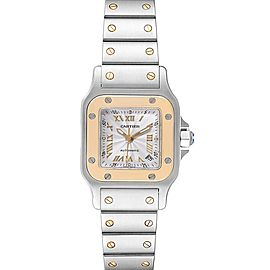 Cartier Santos Steel Yellow Gold Automatic Ladies Watch W20057C4 Box Papers