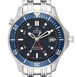Omega Seamaster Bond 300M GMT Co-Axial Mens Watch 2535.80.00 Box Card