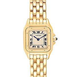 Cartier Panthere Small Yellow Gold Silver Dial Ladies Watch W25022B9