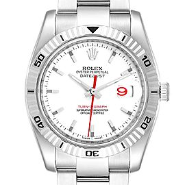 Rolex Datejust Turnograph Steel White Gold Oyster Bracelet Watch 116264