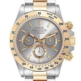 Rolex Daytona Steel Yellow Gold Slate Dial Mens Watch 16523