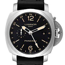 Panerai Luminor GMT 44mm Steel Mens Watch PAM00531 Box Papers