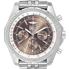 Breitling Bentley Motors Bronze Dial Chronograph Watch A44362 Box Papers