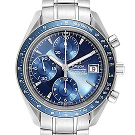 Omega Speedmaster Date Blue Dial Chrono Steel Mens Watch 3212.80.00