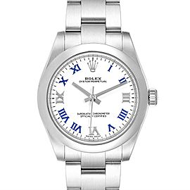 Rolex Oyster Perpetual Midsize White Dial Ladies Watch 177200 Box Card