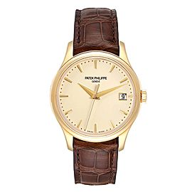 Patek Philippe Calatrava Hunter Case Yellow Gold Automatic Mens Watch 5227
