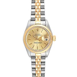 Rolex Datejust 26 Steel Yellow Gold Champagne Dial Ladies Watch 79173