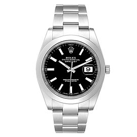Rolex Datejust 41 Black Dial Oyster Bracelet Mens Watch 126300 Unworn