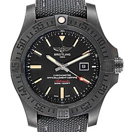 Breitling Avenger Blackbird 48 Titanium Mens Watch V17310 Box Card