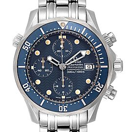 Omega Seamaster Bond Blue Dial Chronograph Steel Mens Watch 2599.80.00